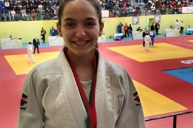 Maria Gaspar com a Medalha de Bronze
